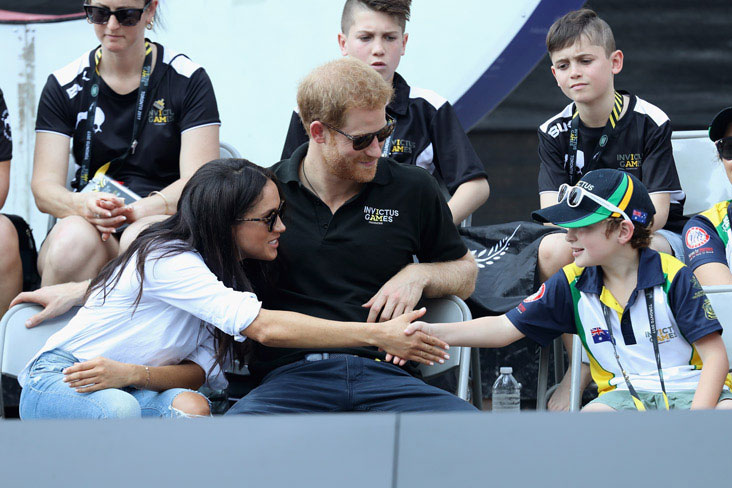 Prince Harry and Meghan Markle at the Invictus Games in Toronto in 2017