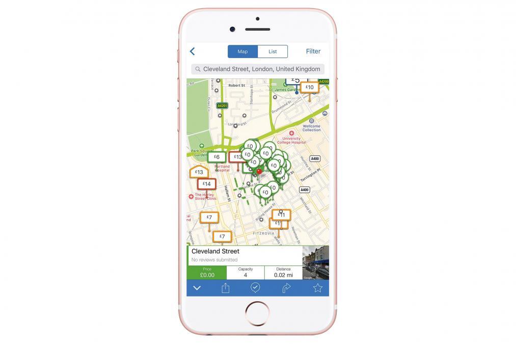 Parkopedia Parking app