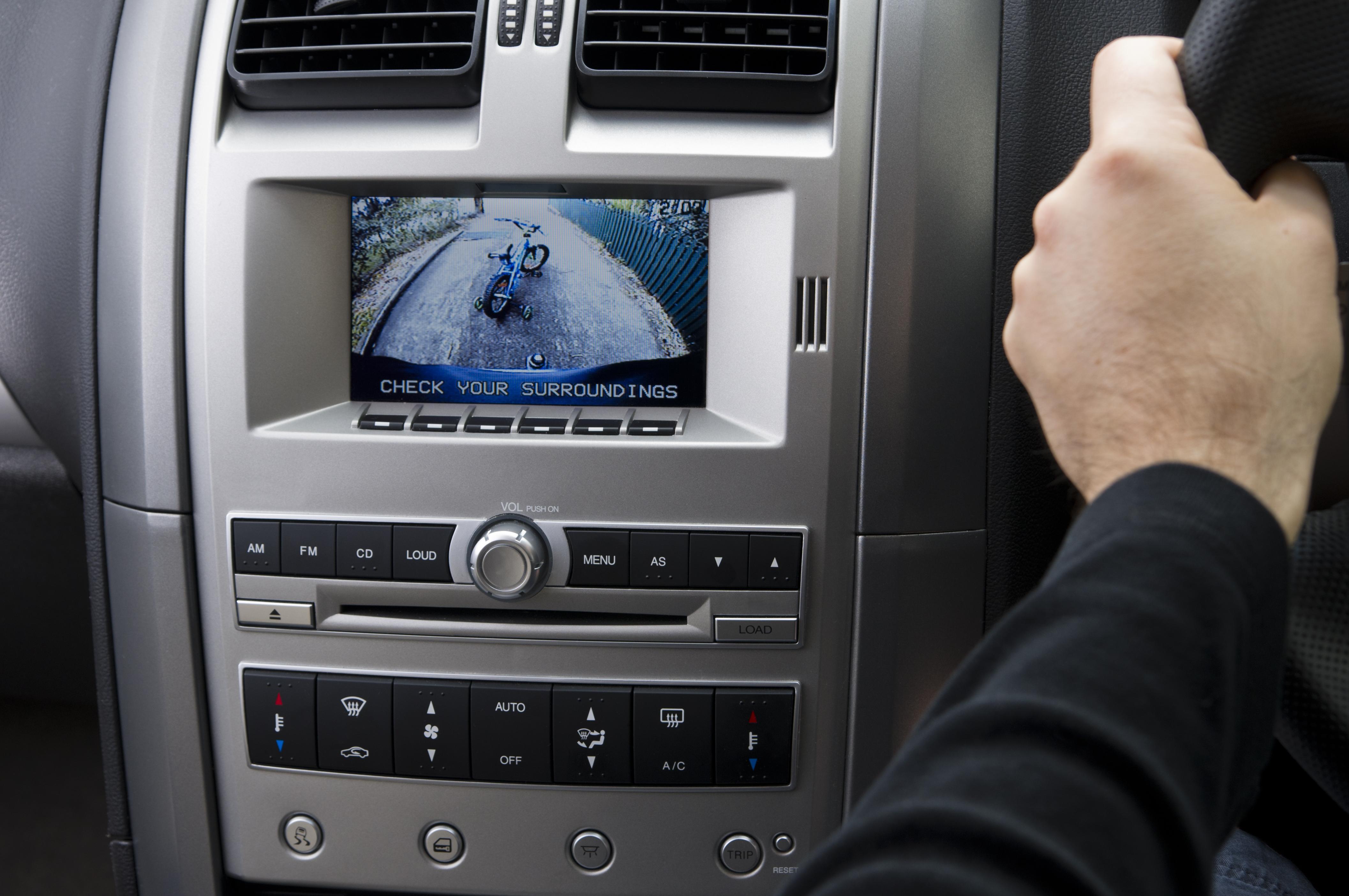 In-dash reversing camera on car (RHD)
