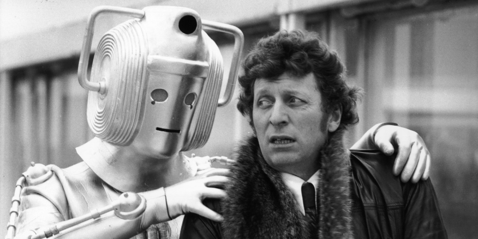 Dr Who (Tom Baker) meets one of the monsters from his new series. (Photo by Frank Barratt—Getty Images)
