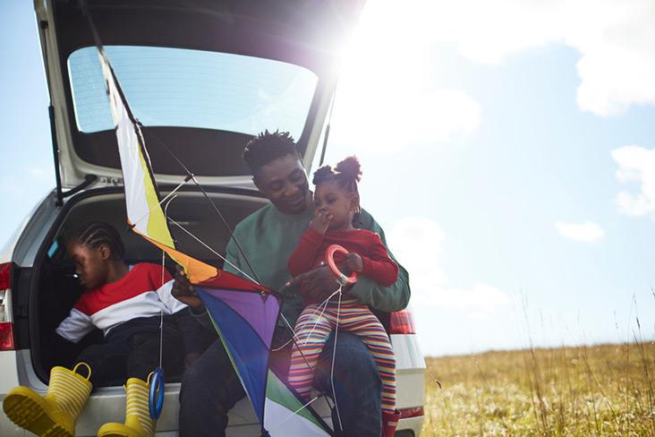 Motability Scheme customer and child