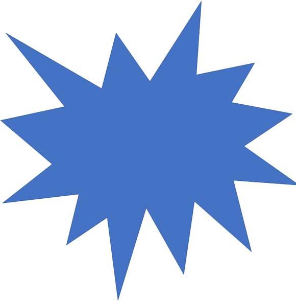 よく使用する図形「爆発: 8 pt」