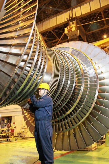 Fine tuning is essential to rotate the huge turbine