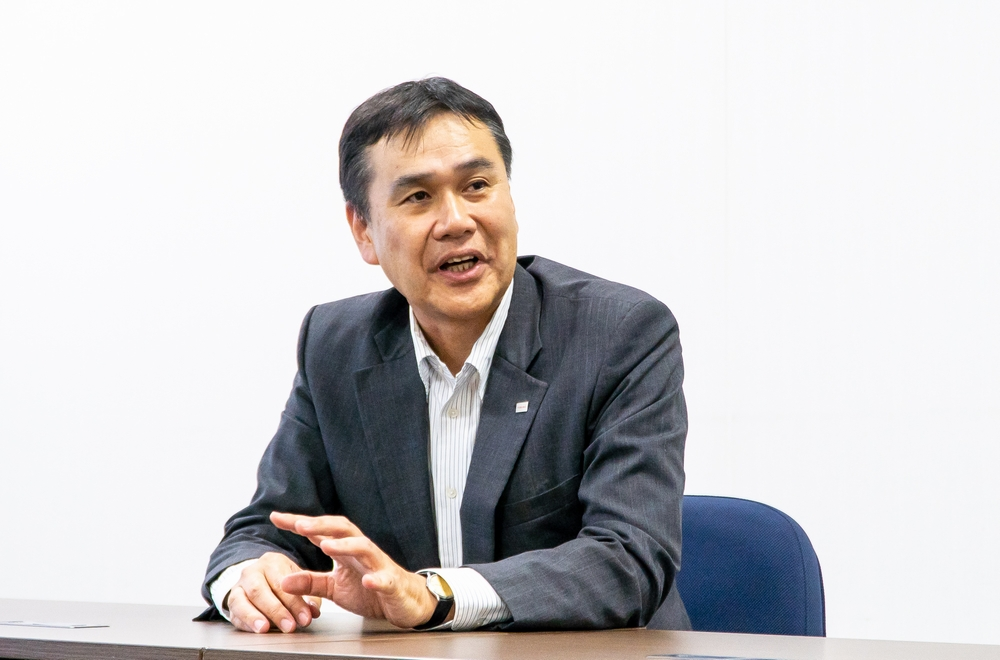 Hideto Yui, Head of Business Unit Robotics, Logistics System Solutions, Security & Automation Systems Division, Toshiba Infrastructure Systems & Solutions Corporation (title at the time of the interview)