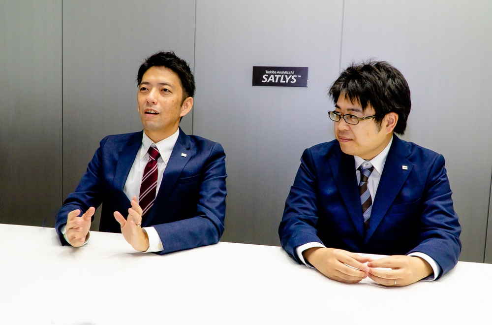 Yuji Irimoto (left) and Hiroki Ueda (right) of Toshiba Digital Solutions Corporation, Software & AI Technology