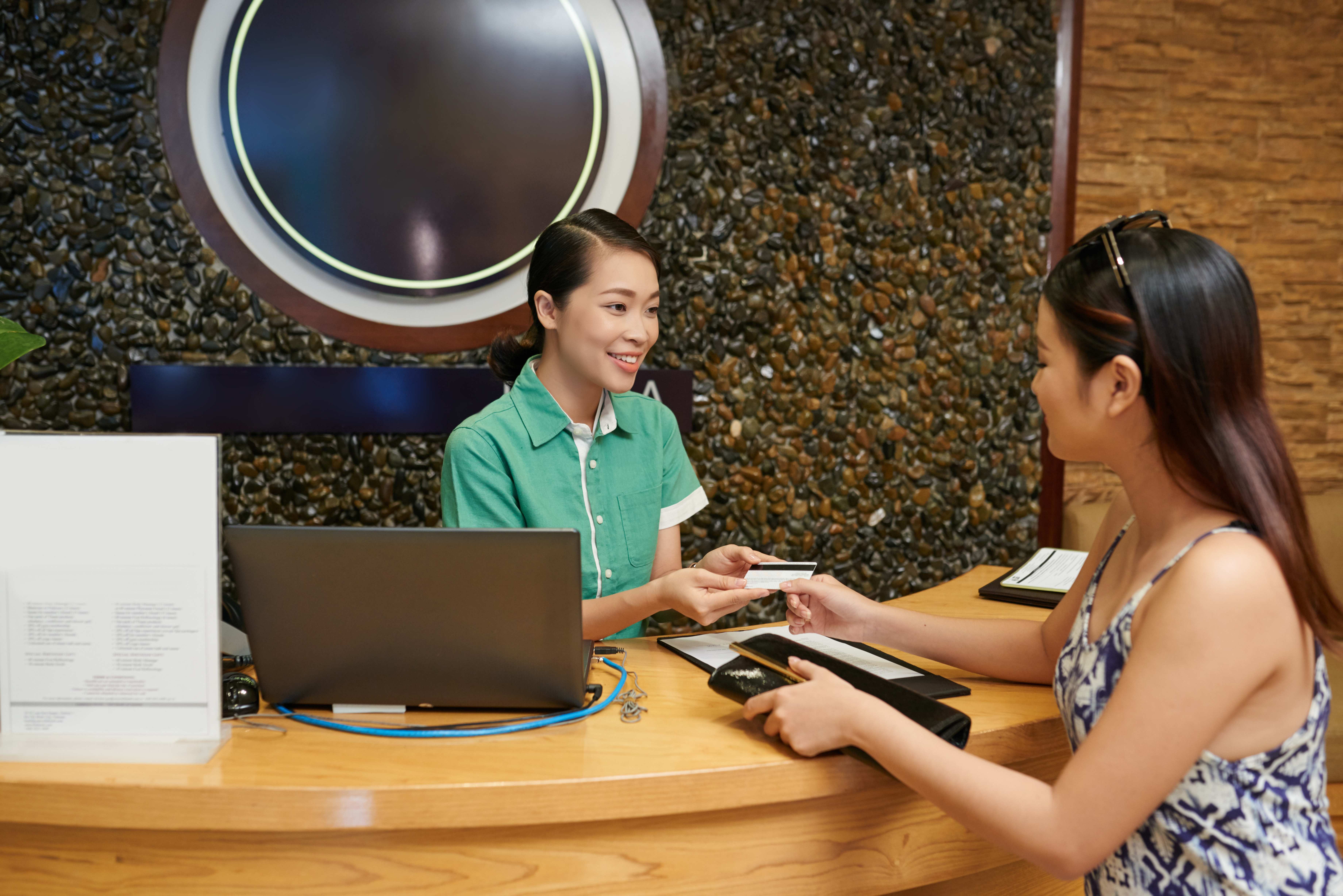 Paying with Credit Card at Spa Salon