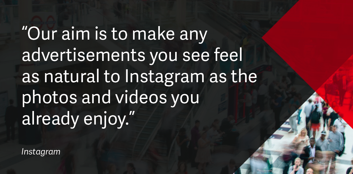 Instagram advertising quote