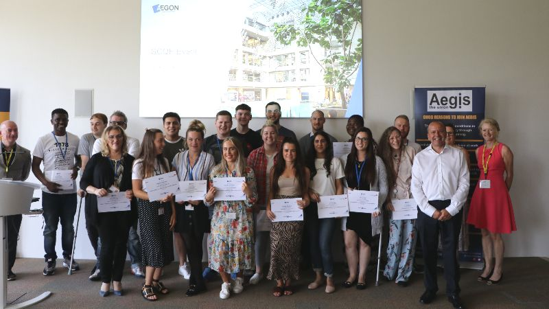 Aegon Employees with SCQF Certificates.JPG