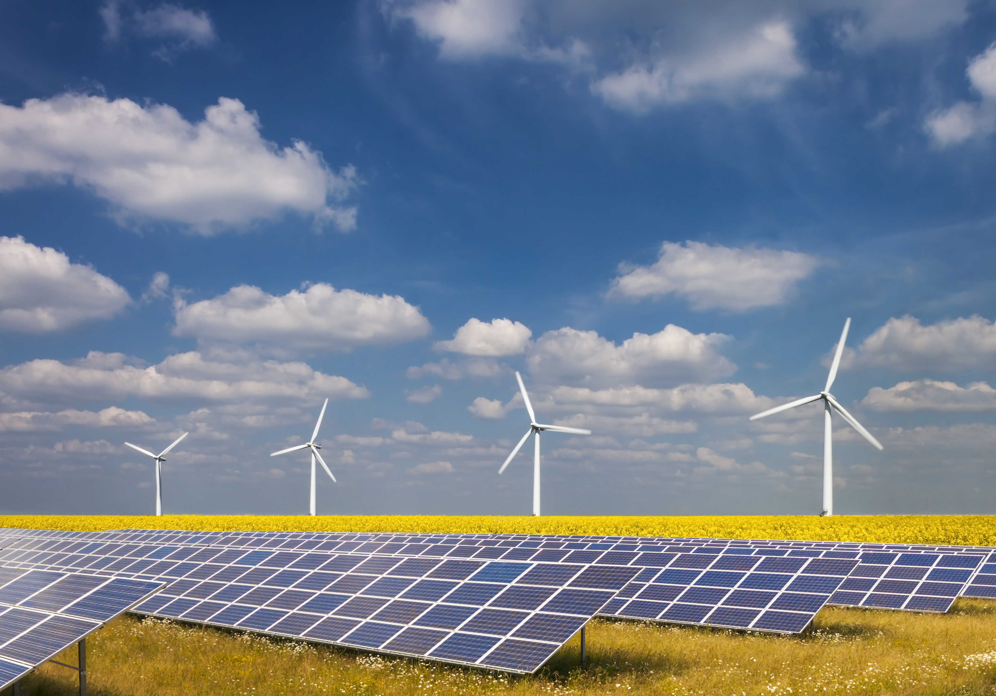 Three renewable energy sources
