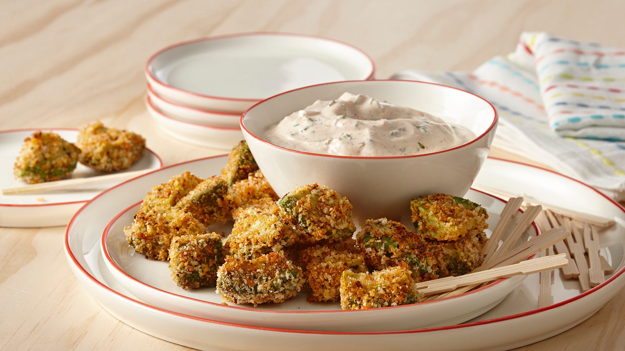 McCormick Avocado Bites with Yogurt Dipping Sauce