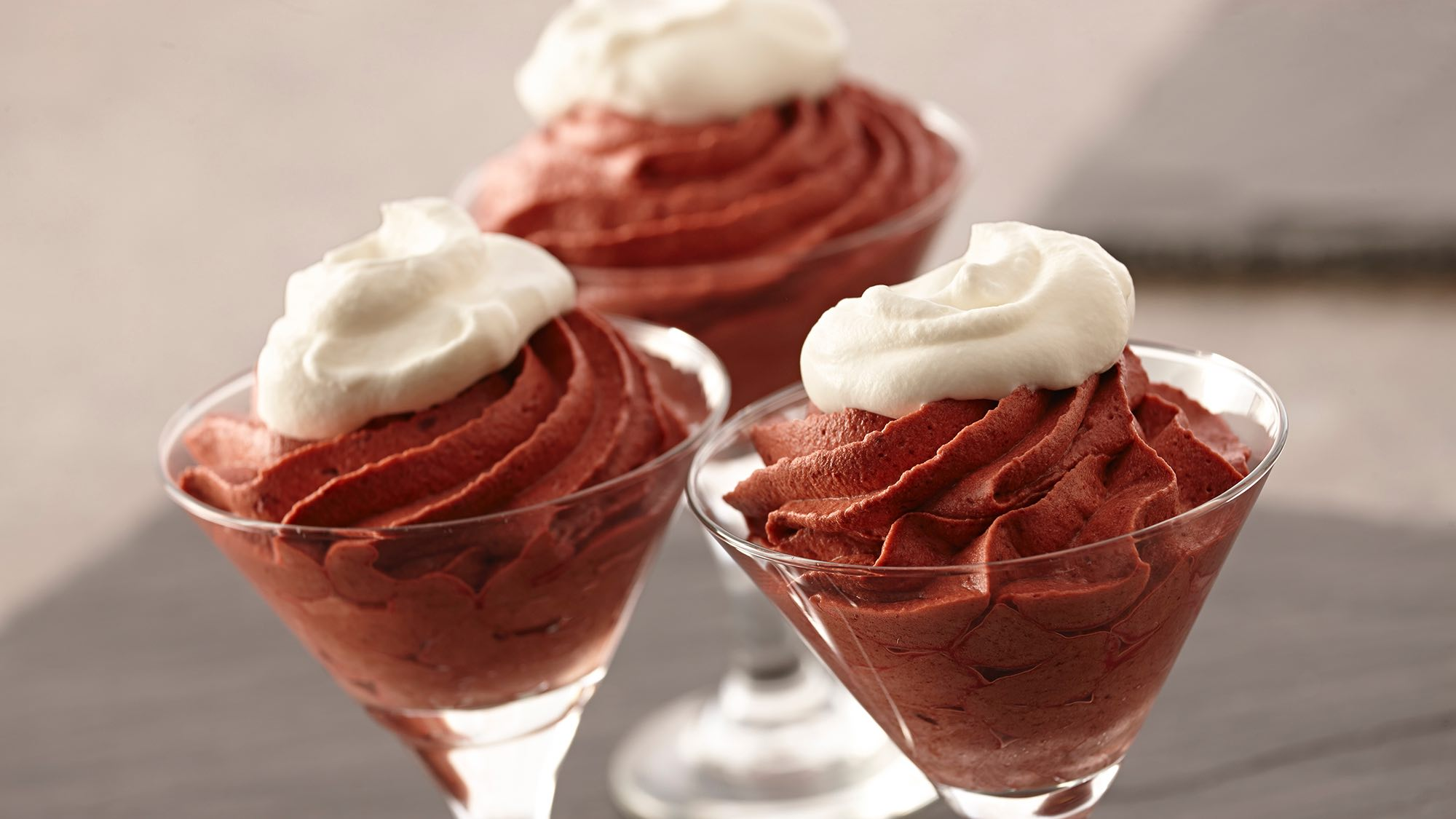McCormick Red Velvet Mousse with Vanilla Whipped Cream