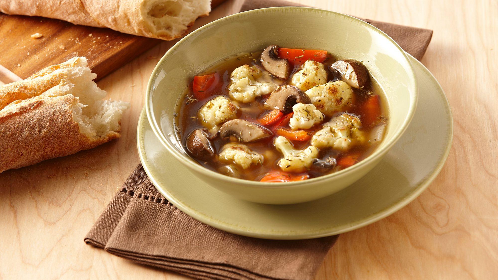 McCormick Roasted Cauliflower and Mushroom Soup
