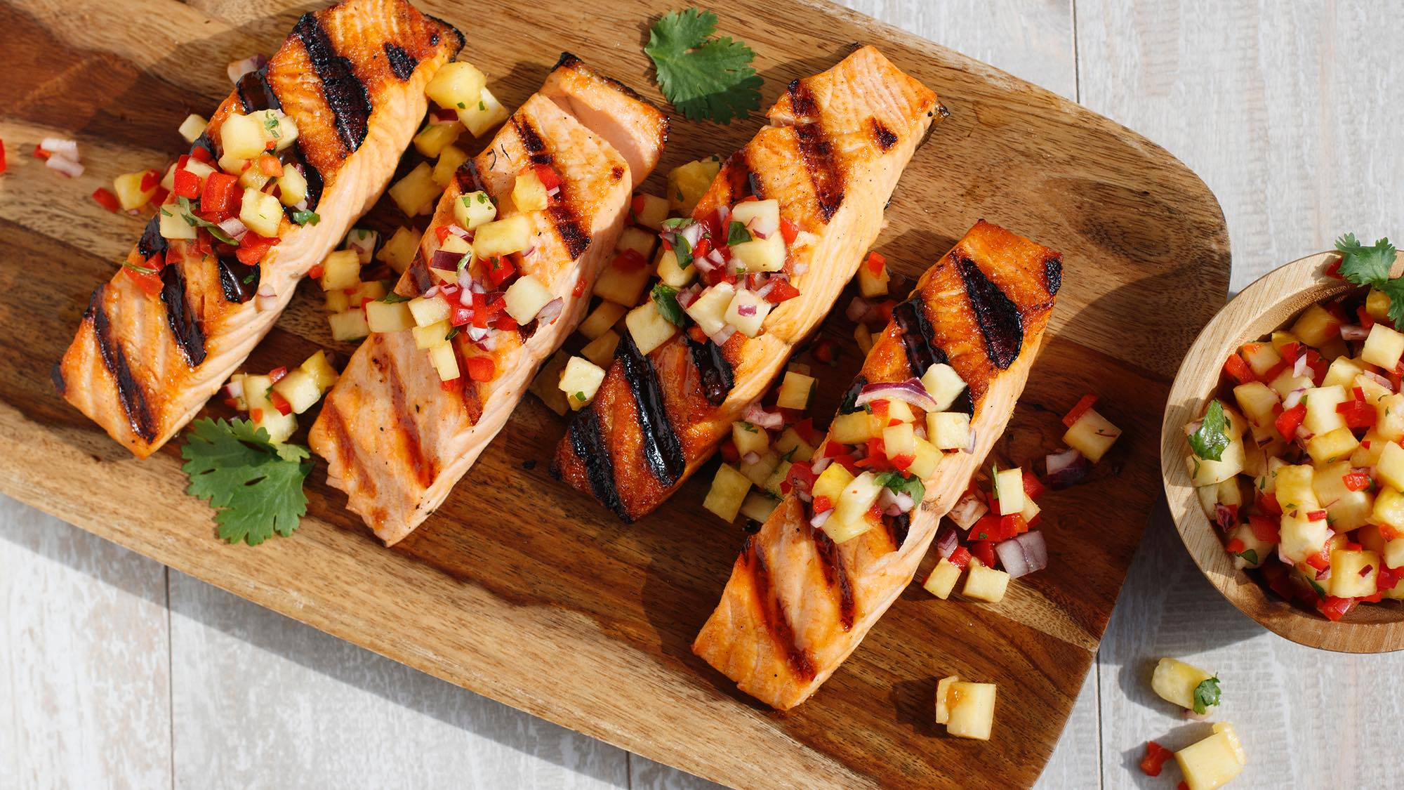 Lawry's Salmon with Pineapple Salsa