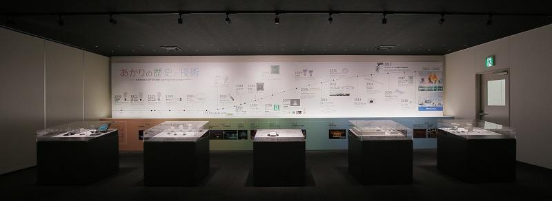 KANUMAあかり館の展示スペース