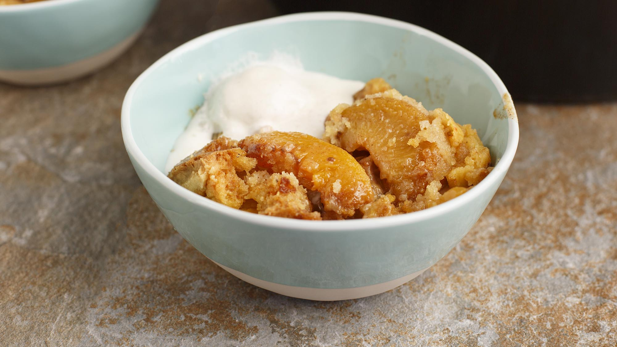 McCormick Slow Cooker Peach Cobbler