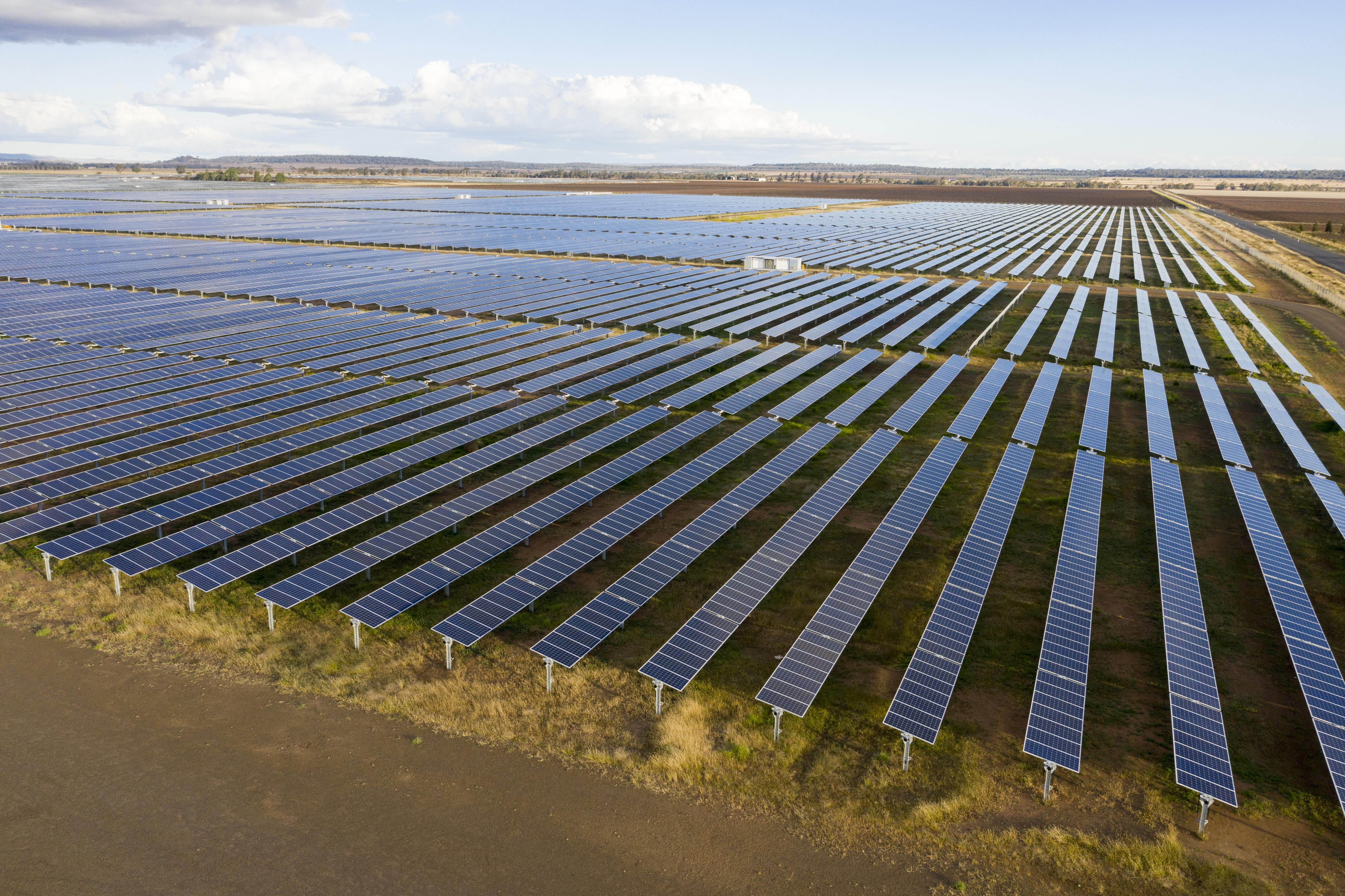 A huge solar farm