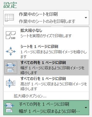 Excelの印刷画面