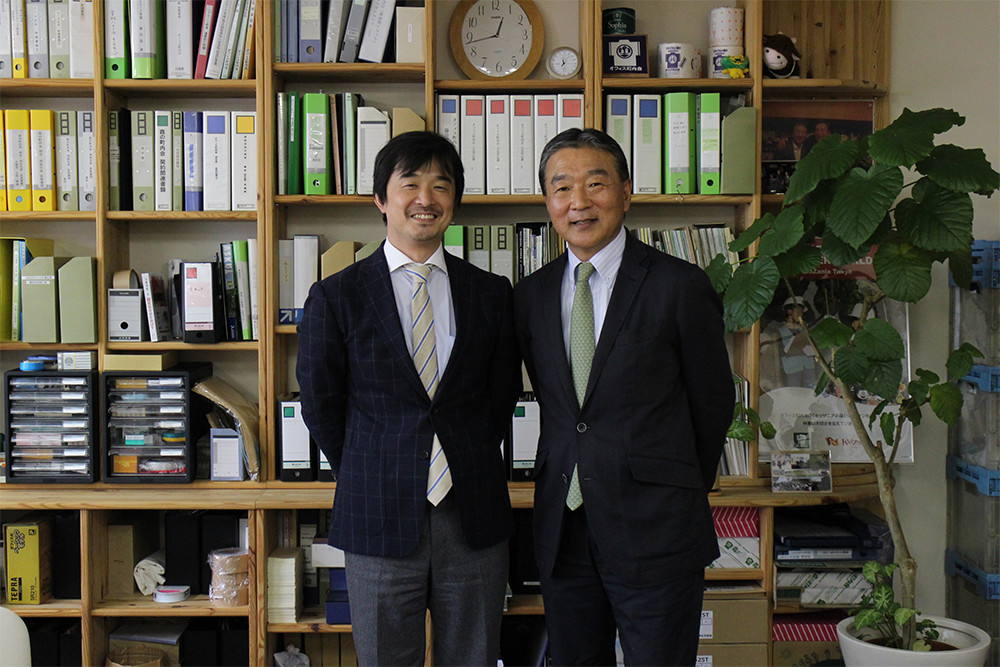 IMAGE OF MR. NIIMOTO AND MR. HANGAI