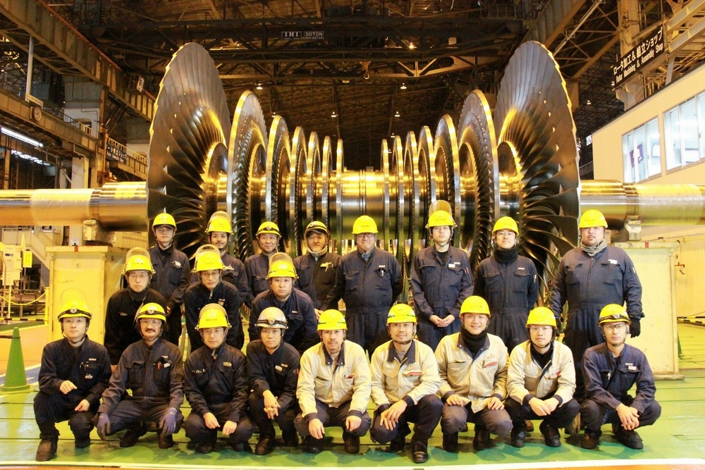 Skilled elites manufacturing turbines at Keihin Product Operations of Toshiba Energy Systems & Solutions Corporation