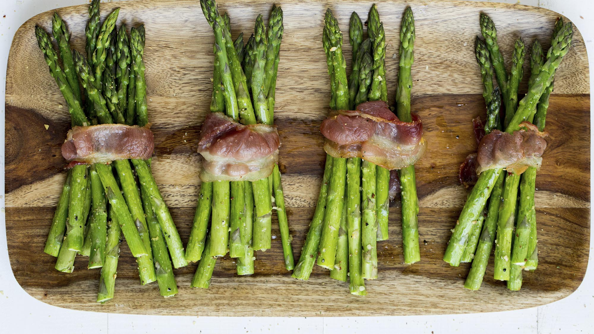 McCormick Grill Mates Brown Sugar Bourbon Bacon Wrapped Grilled Asparagus