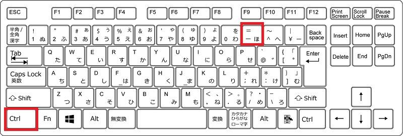 Excelで列を削除するときのショートカットキー操作(Windows)