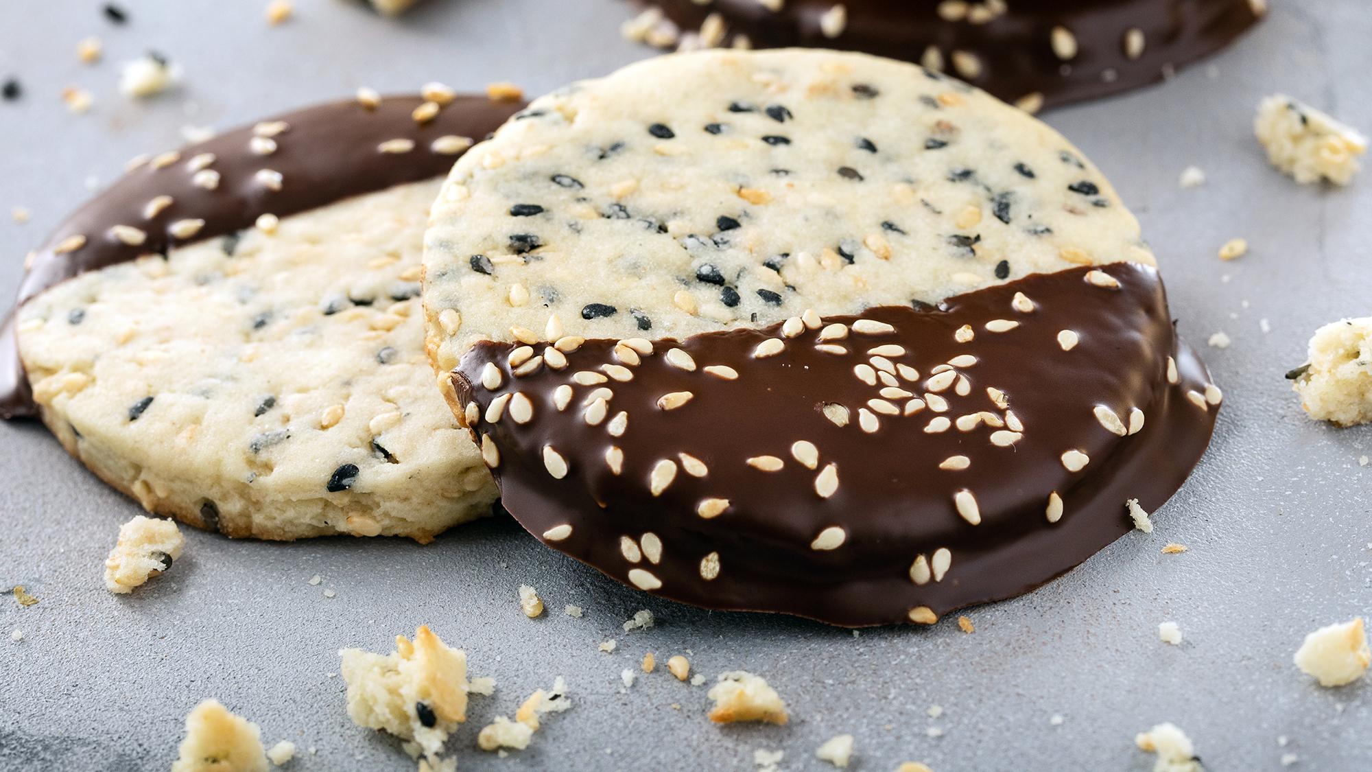 mcCormick Chocolate Dipped Sesame Cookies