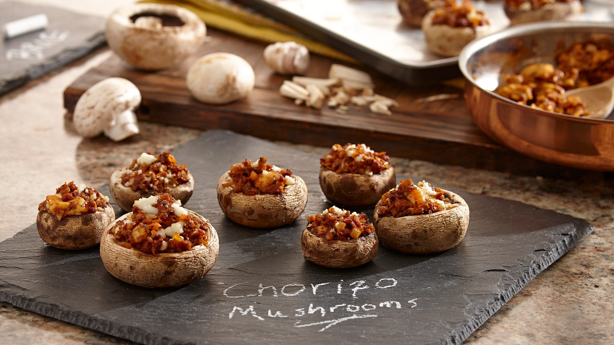 McCormick Gourmet Chorizo Stuffed Mushrooms