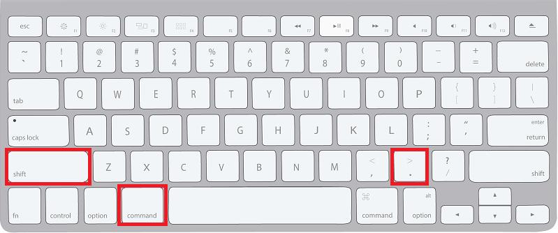 フォントサイズを大きくするショートカット(Mac)