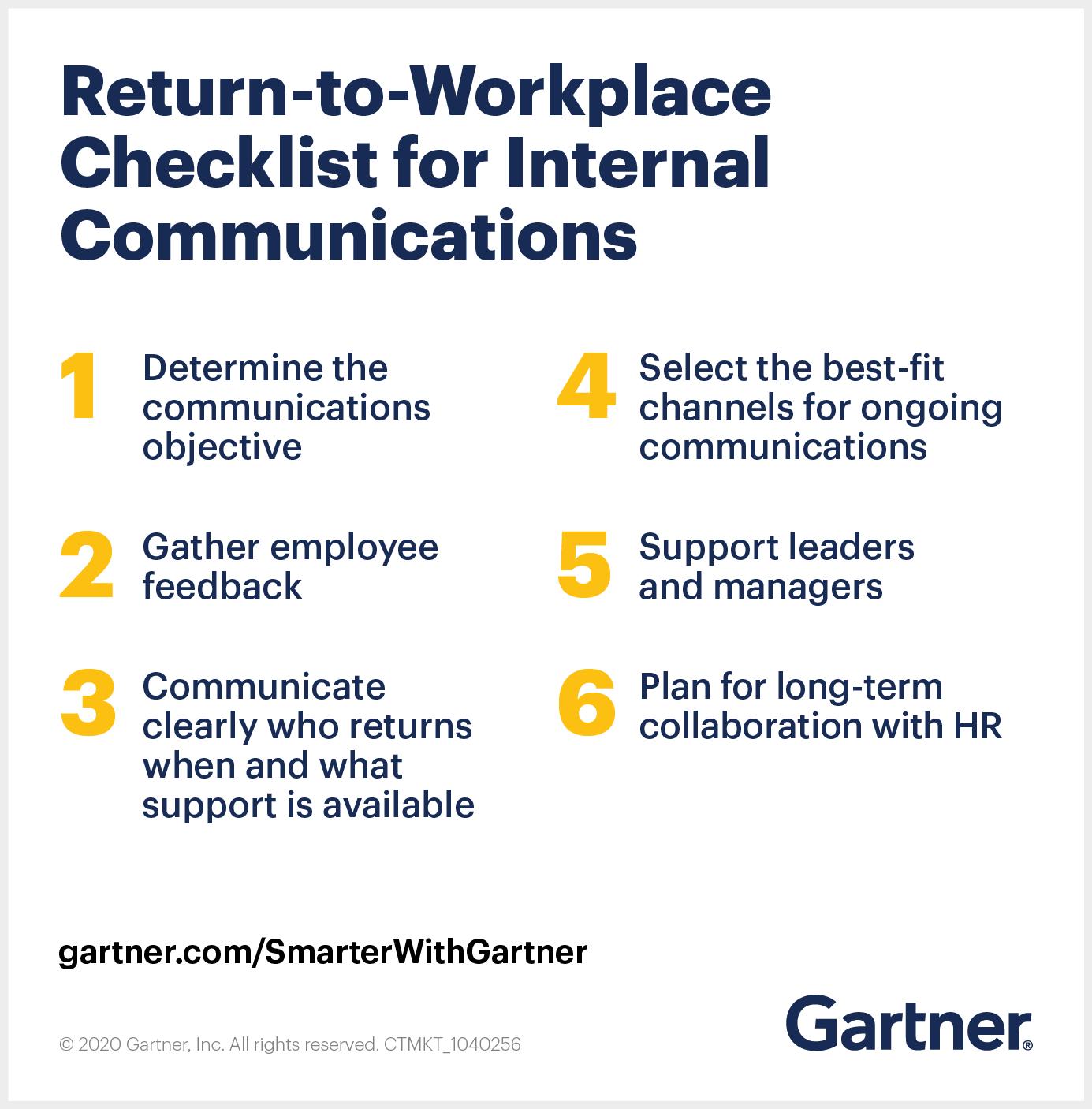 Return-to-Workplace Checklist