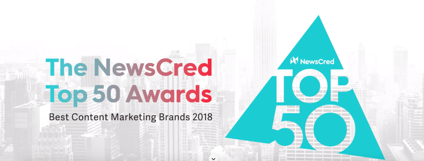 47032dd0fb61 50 Best Content Marketing Brands of 2018 – The NewsCred Top 50