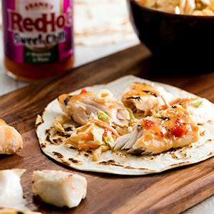 Frank's RedHot Sweet Chili Fish Tacos