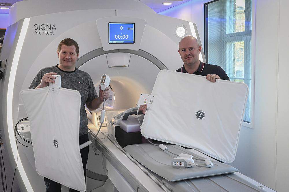 Progardia Healthcare med ny MR-scanner: SIGNA Architect samt de fleksible spoler, AIR coils fra GE Healthcare