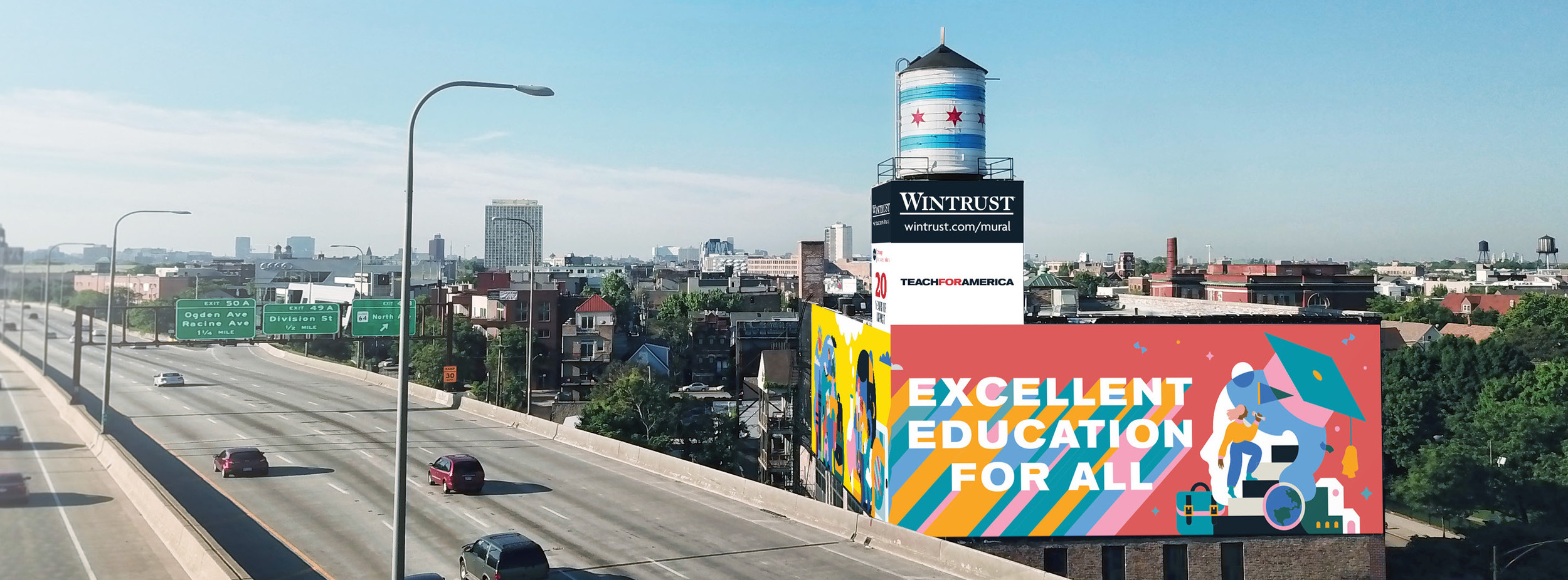 Mural Building: Excellent education for all — Teach For America