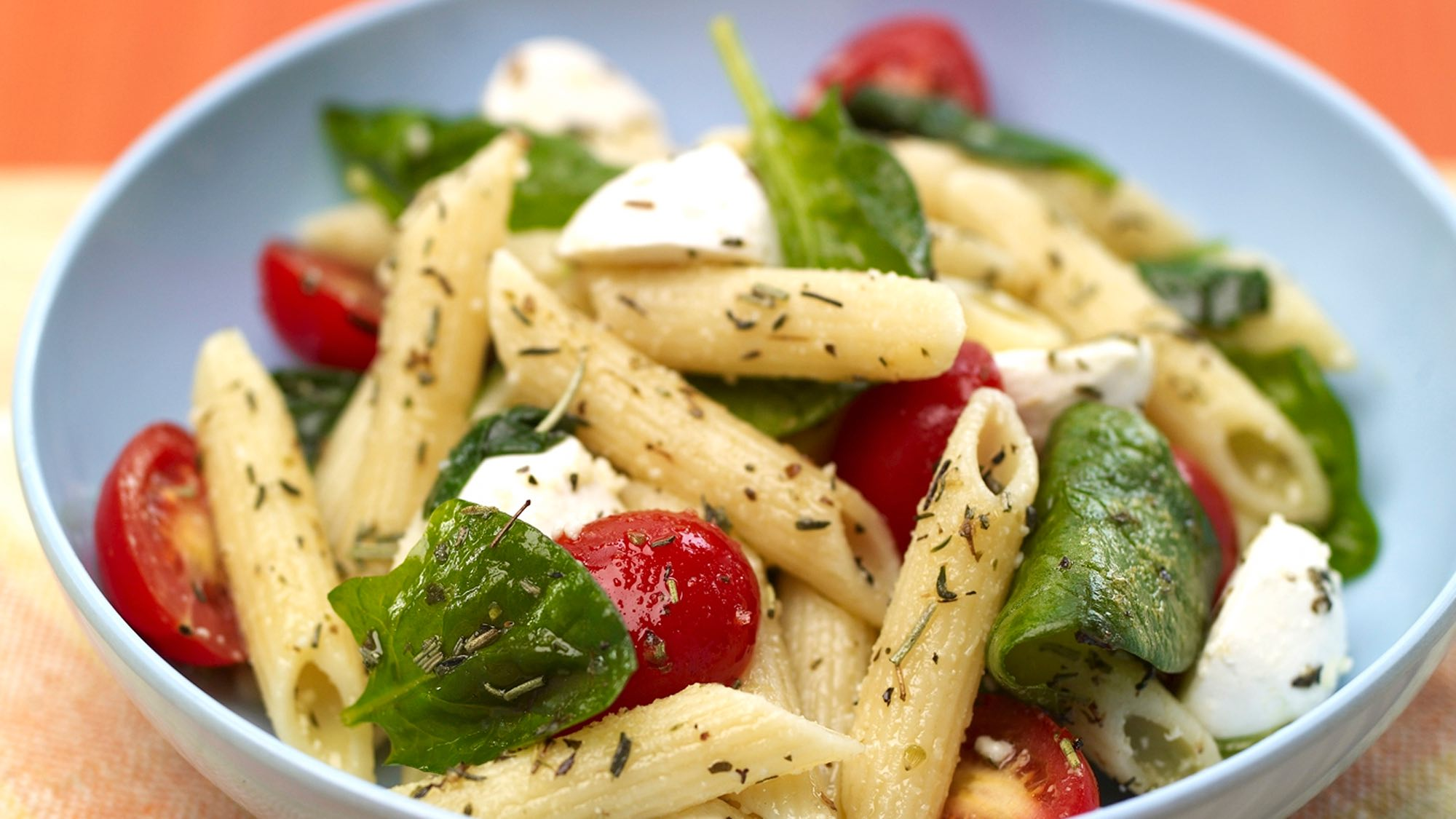 McCormick Penne Pasta Salad with Spinach and Tomatoes