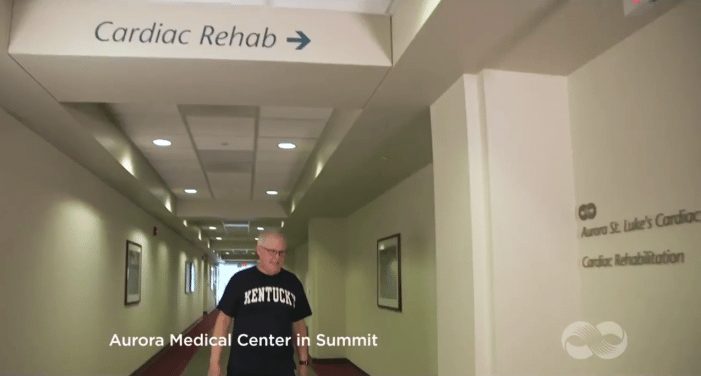 Pictured: Ken Denison during one of his cardiac rehabilitation follow up appointments. (Courtesy of Aurora Medical Center in Summit)