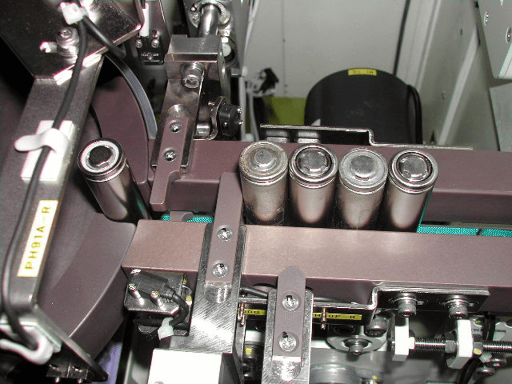 The system incorporated into a battery production line