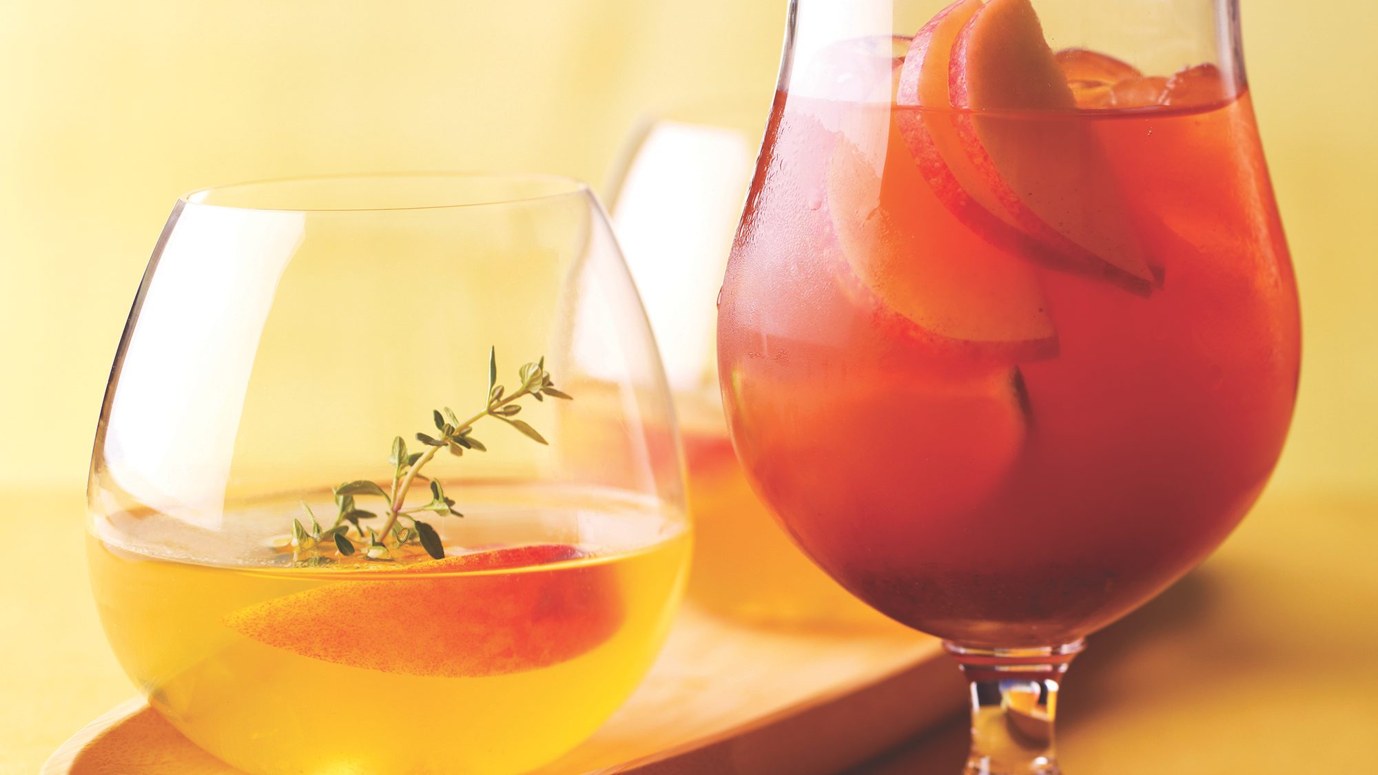 McCormick Peach Gin Cocktail with Thyme Syrup