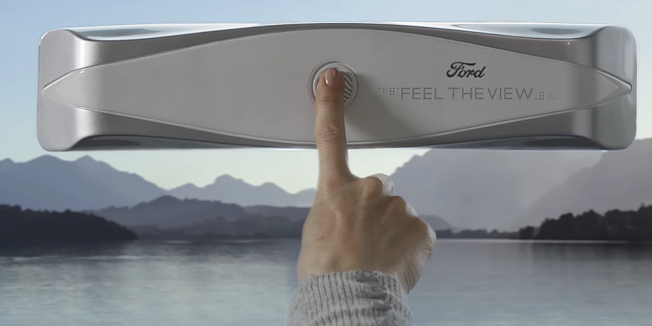 Ford unveiled a smart car window prototype that lets blind passengers see the landscape.