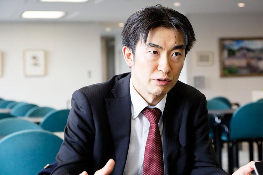 Photo : Manager Tabei, Platform Division, AI Service Business Unit, Fujitsu Limited