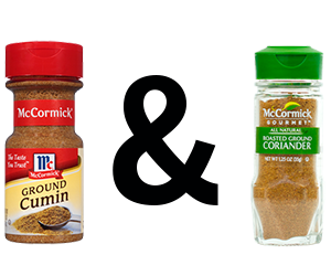 McCormick Cumin, Ground and McCormick Gourmet Organic Coriander, Ground