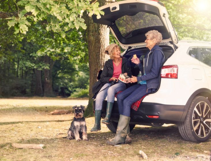 Motability Scheme customers with dog