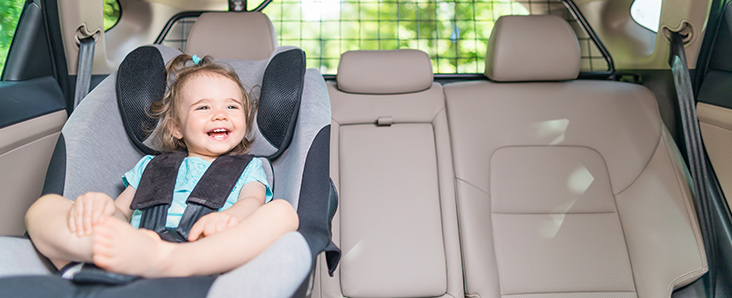 Baby in child seat