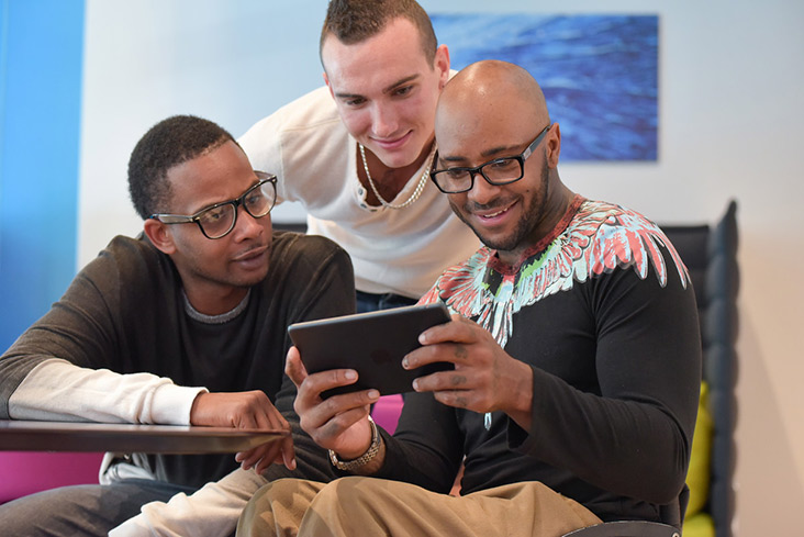 Motability Scheme customers browsing the Motability Scheme website on tablet