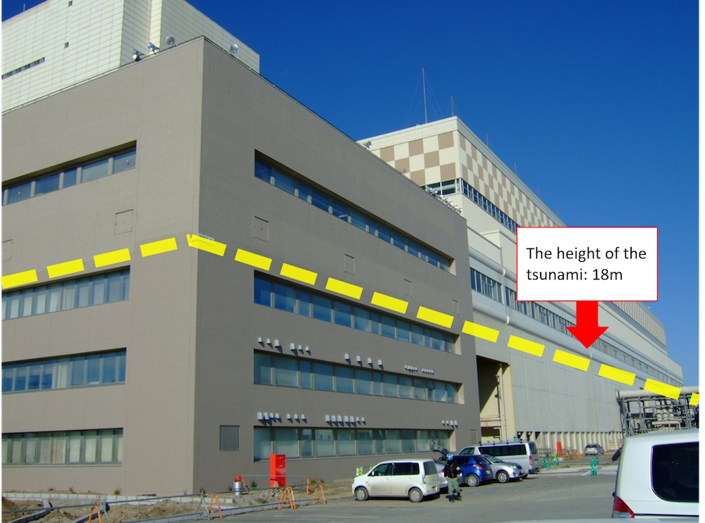 The height of the Tsumani 18m