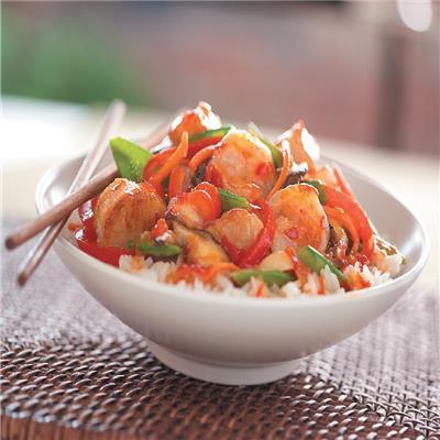 Frank's RedHot Thai Shrimp and Scallop Stir Fry