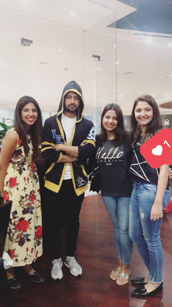 Atif Aslam with his fans.