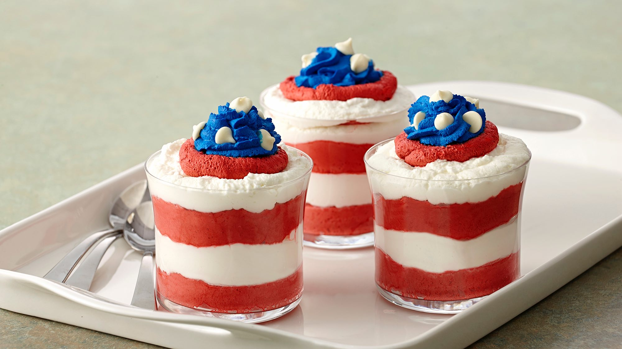 McCormick Red, White and Blue Mousse Parfaits