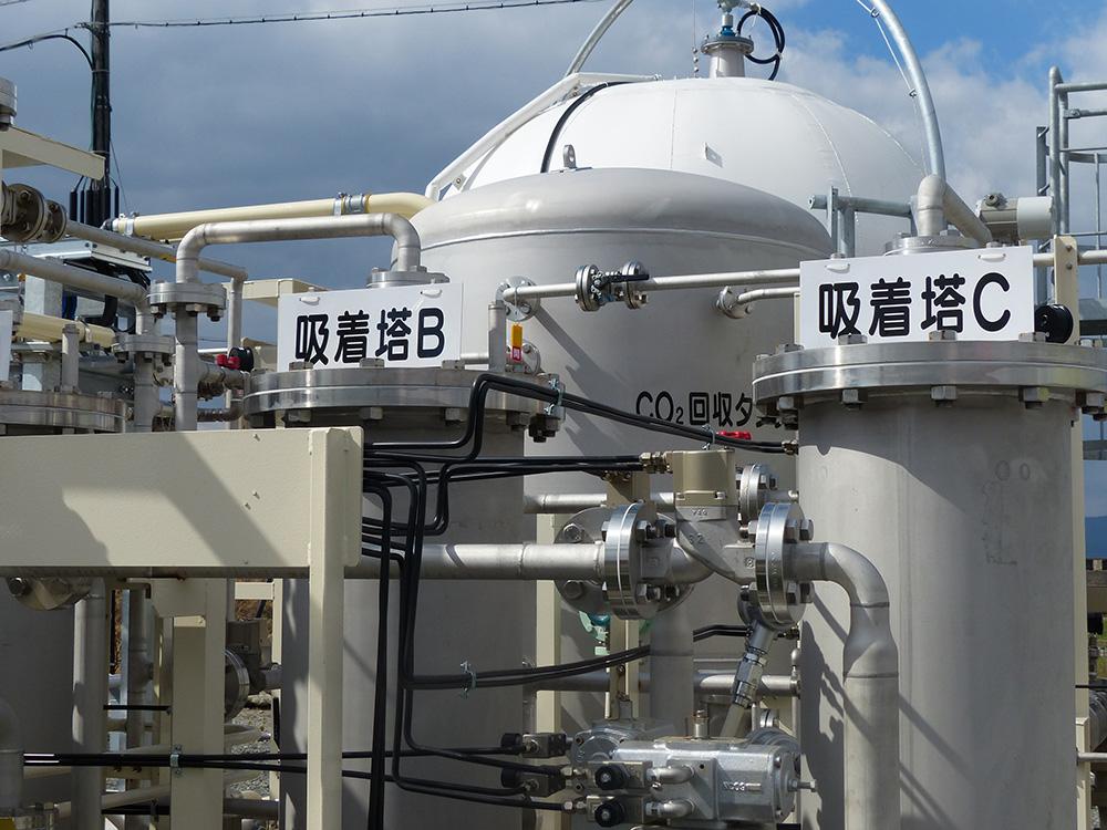 佐賀市実証施設のCO₂分離・回収設備