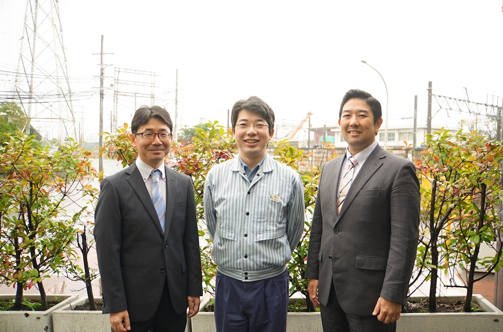 From left to right: Abe (Toshiba Energy Systems & Solutions), Takayama (Showa Denko), Suzuki (Toshiba Energy Systems & Solutions)