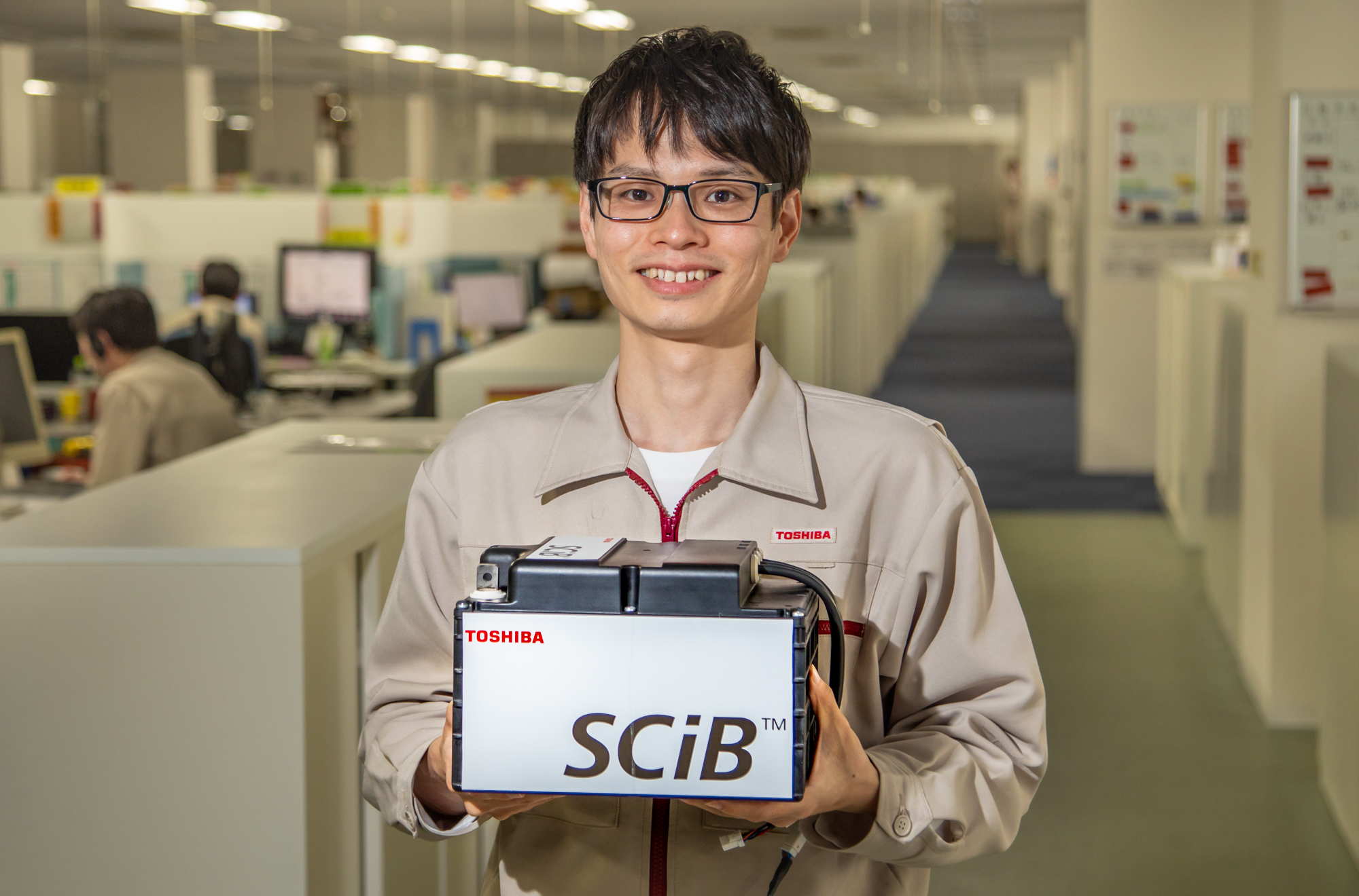 Lithium-ion battery packs (SCiB™) used in automatic guided vehicles (AGV)